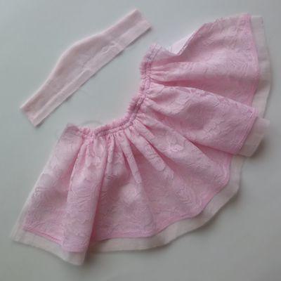 スカートにギャザー